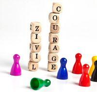 Das Wort Zivilcourage ist abgebildet