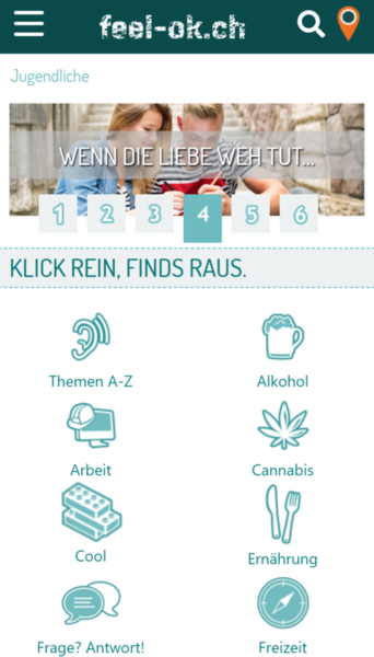 feel-ok.ch - Version 10 für Smartphones